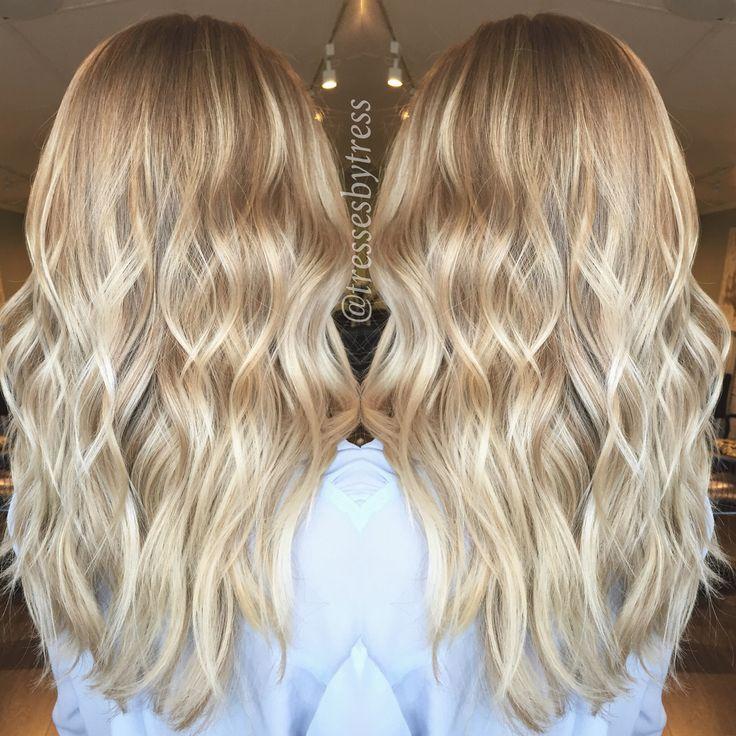 Platinum baby blonde balayage highlights