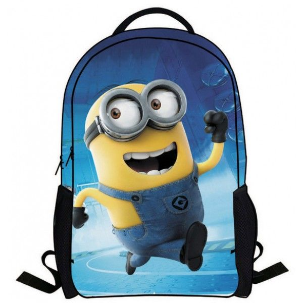 Minions rygsæk til børn, med stort flot motiv af Bob.