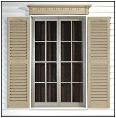 17 best exterior windows images on pinterest windows for Paint vinyl shutters