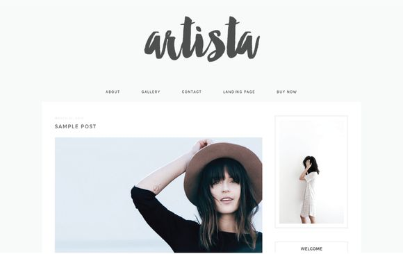 Responsive Wordpress Theme- Artista by Bloom Blog Shop on Creative Market