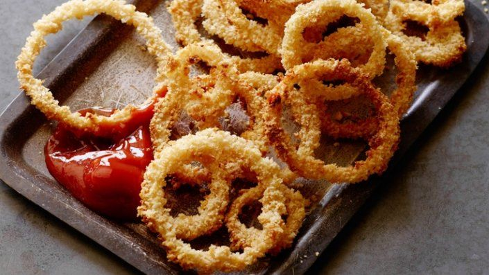 How to make the perfect Oven Fried Onion Rings by Jeff Mauro on Food Network UK.
