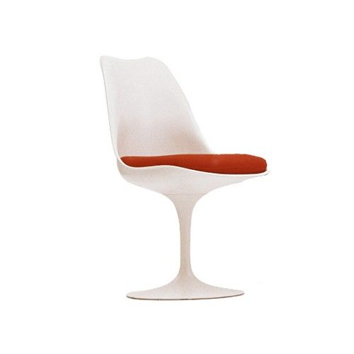 Finnish-born Eero Saarinen designed the Tulip Chair with Seat Cushion in terms of its setting – the space the chair would occupy – rather than a particular shape. http://www.yliving.com/knoll-tulip-armless-chair-cushion.html