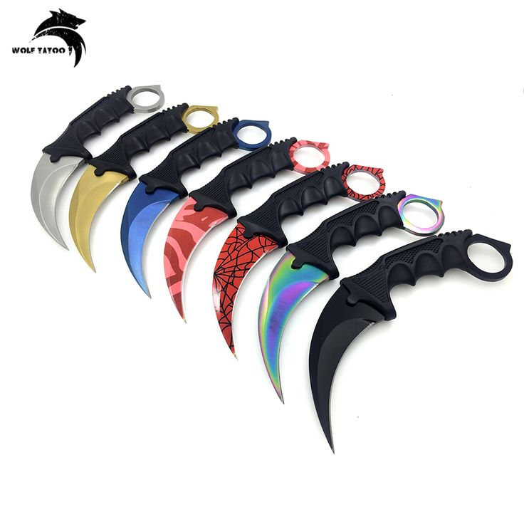 Karambit CS GO Fixed Blade Knife Never Fade Counter Strike Tactical Fighting Claw Knives Survival Camping EDC Tools and Cosplay
