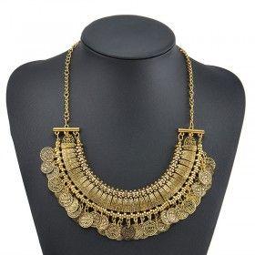 Antique gold Bohemian necklace #boho #bohemian #bohemianjewelry #necklace #fashionjewelry #fashionjewellery #accesories