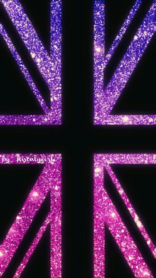 Purple & pink glitter British