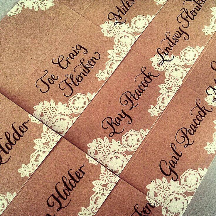 Best houston calligrapher wedding calligraphy images