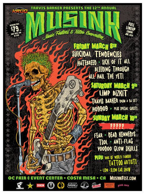 Musink 2019 MUSINK 2019 Costa Mesa, CA - USA Fri 08 March