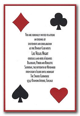Casino Night Custom Birthday Invitation Casino Night Party Casino - Party invitation template: casino theme party invitations template free