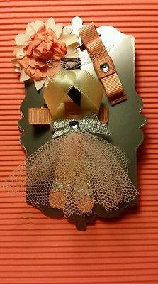 Girls gorgeous ballerina hair clip set.  Alligator clips, hair accessories