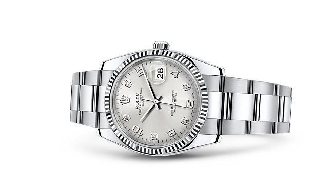 Discover the Date 34 watch in White Rolesor - combination of 904L steel and 18 ct white gold on the Official Rolex Website. Model: 115234