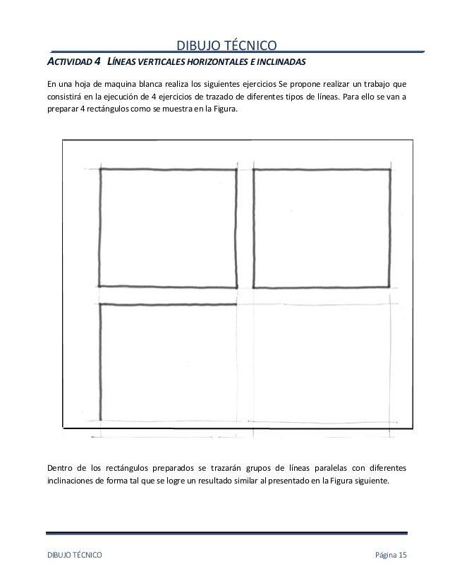 Dibujo Tecnicodibujo Tecnico Pagina 15actividad 4 Lineas Verticales Horizontales E Inclinadasen Una Tecnicas De Dibujo Dibujos Lineas Horizontales Y Verticales