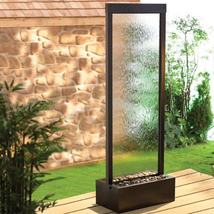 Have to have it!!One for my office, one for my bedroom,two for the patio! BluWorld Gardenfall Garden Water Fountain-Clear Glass/Dark Copper Frame $395.00