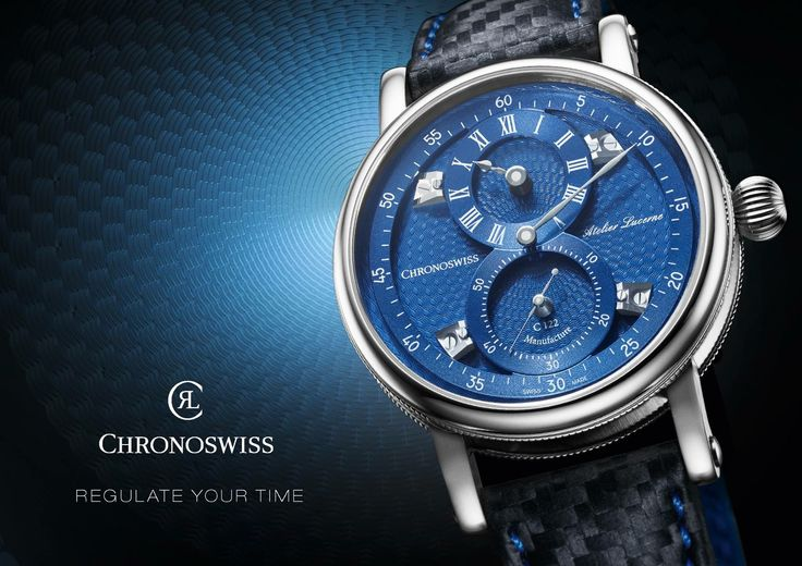 "#Baselworld 2016: #Chronoswiss Sirius Flying Regulator. CH_1243_3_Beauty_HHN The new Sirius Flying Regulator from #Swiss brand #Chronoswiss features a ""flying"" minute dial and sub-dials for hours and seconds, which stand out from the guilloche base. The high-quality, slightly curved sapphire crystal further draws attention to the dial's three-dimensionality"