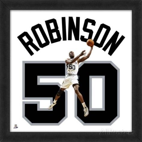 David Robinson, Spurs photographic representation of the player's jersey Framed Memorabilia at