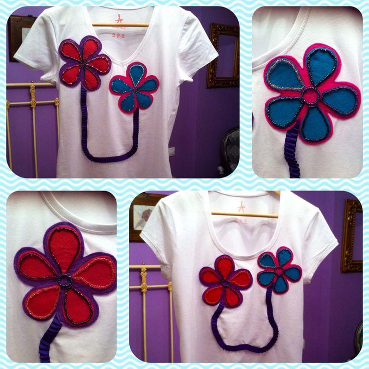 Camisetas de flores hechas a mano