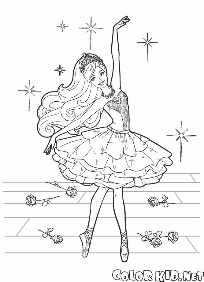 Barbie Bailarina Para Colorear Barbie Coloring Pages, Dance Coloring Pages,  Barbie Coloring