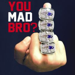 You Mad Bro Free Tom Brady Suspension New England Football Champion Rings Middle Finger T Shirt