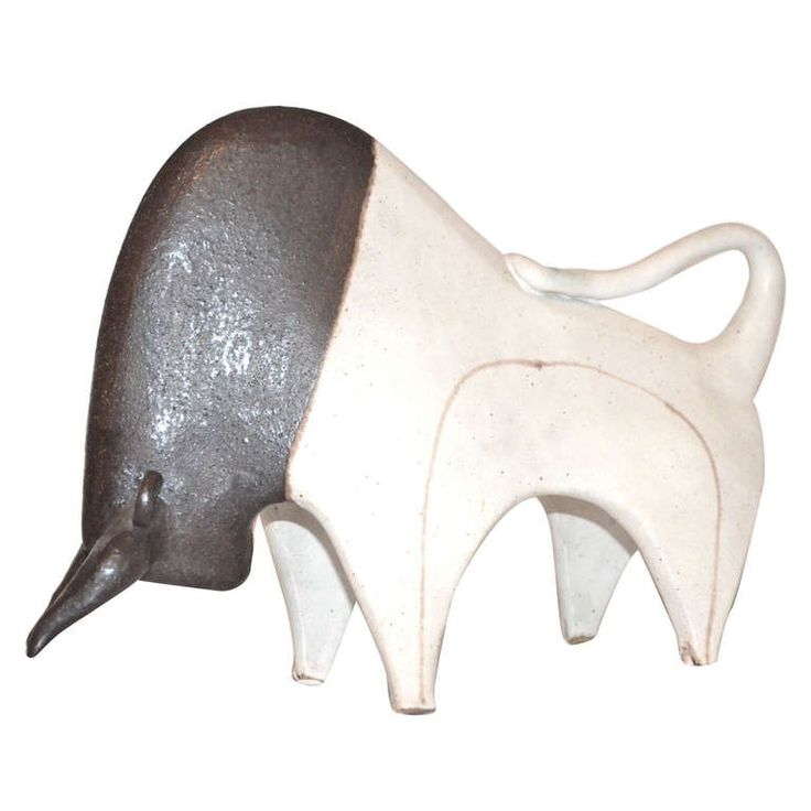 Bruno Gambone Toro ( Bull ) 1950's Italy | From a unique collection of antique and modern ceramics at http://www.1stdibs.com/furniture/dining-entertaining/ceramics/