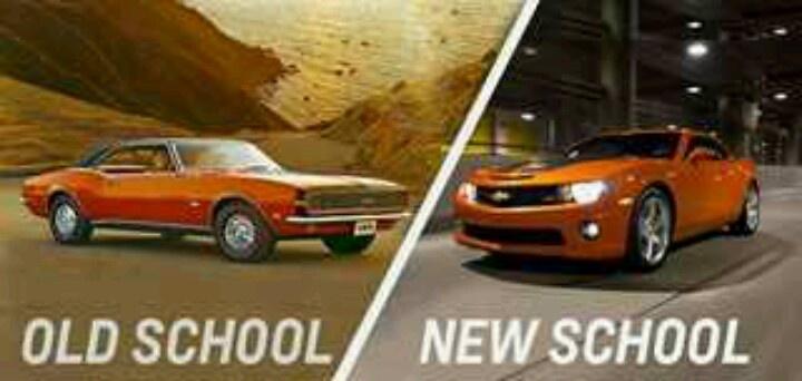 Old School New School Camaro Cars Pinterest Schools