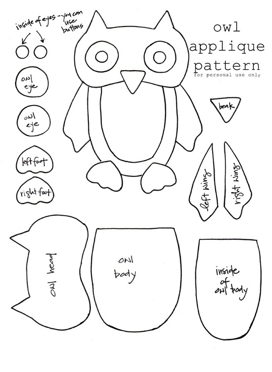 Owl template by rosalind