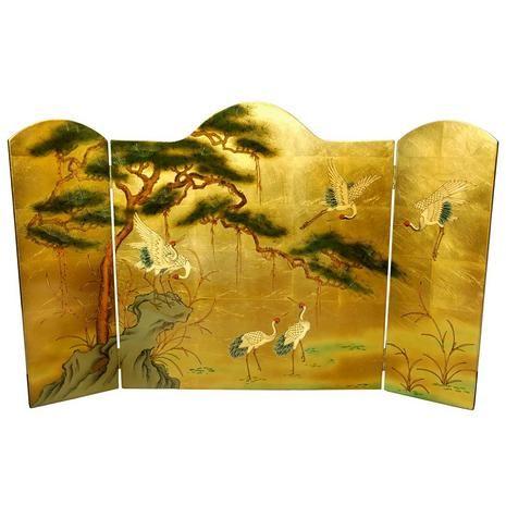 Lacquer Fireplace Screen - OrientalFurniture.com