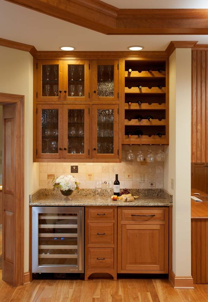 Wet Bar With Light Brown Glass Cabinetry Wine Rack And Holder DesignsHome