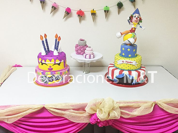 Tortas escenográficas para arriendo o venta, especialmente creadas para celebrar tu cumpleaños