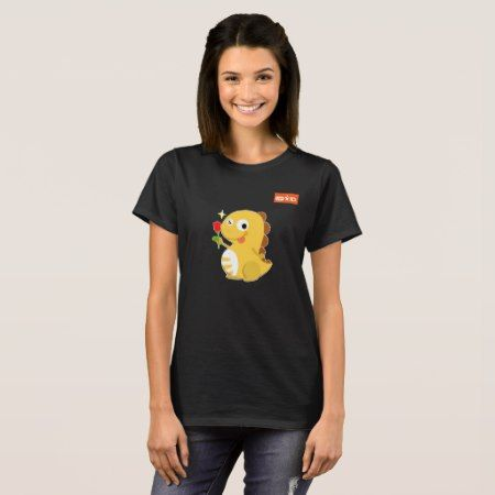 VIPKID Rose Dino T-Shirt - tap, personalize, buy right now!