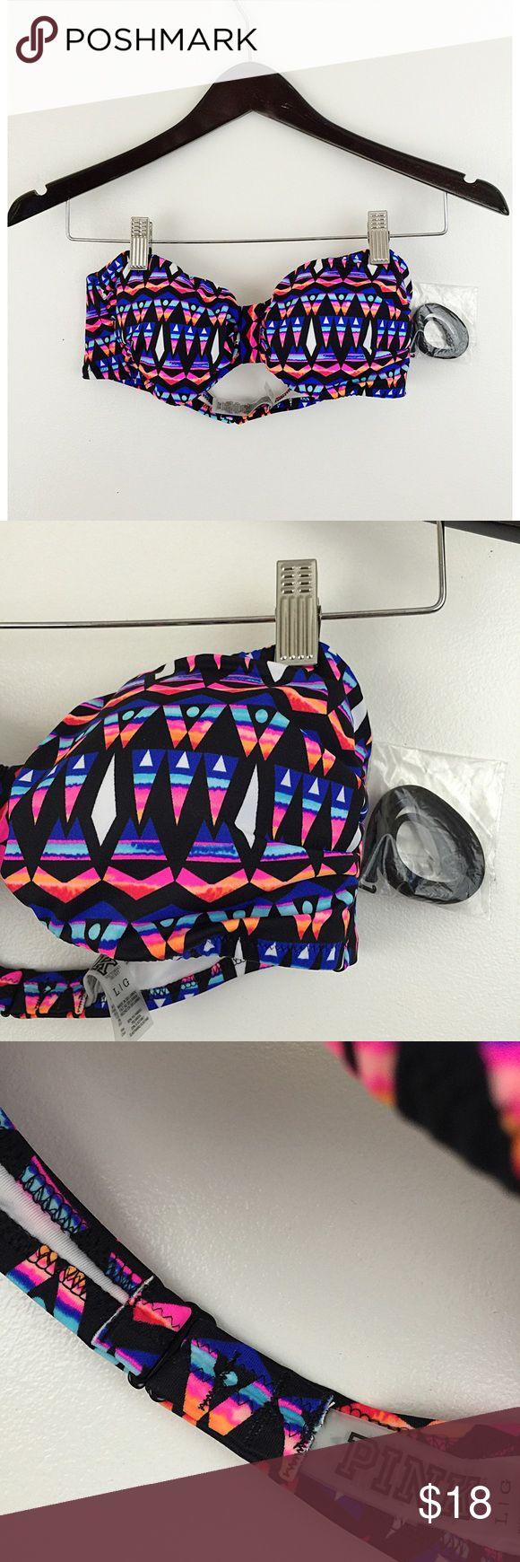 NWT VICTORIA'S SECRET PINK Aztec Bandeau Bikini L NWT VICTORIA'S SECRET PINK Aztec Bandeau Bikini Top. Sz Large. Victoria's Secret Swim Bikinis
