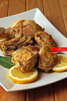 Pollo al limone in casseruola