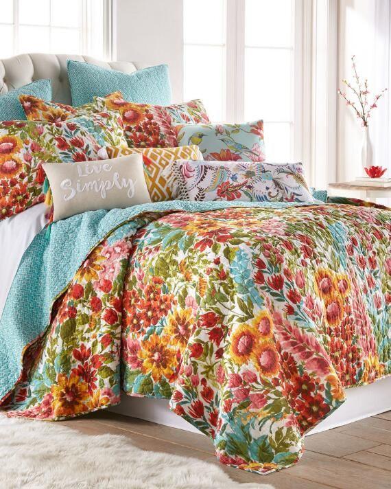 Julissa Bird Decorative Pillow Luxury Quilts Spare Bedroom Decor Floral Comforter Sets