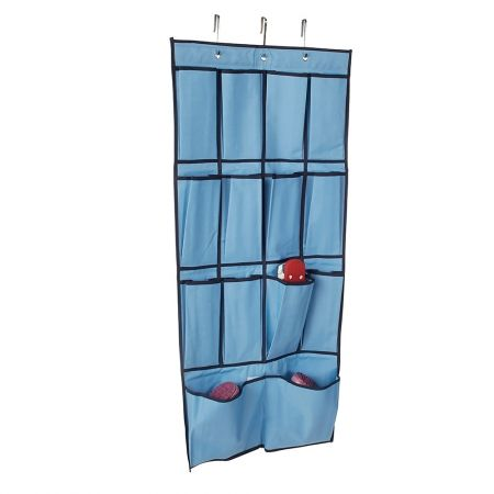 Howards Storage World | Easy Hang Kids Over the Door Shoe Organiser Blue