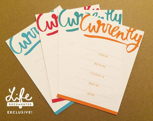 Free currently printables