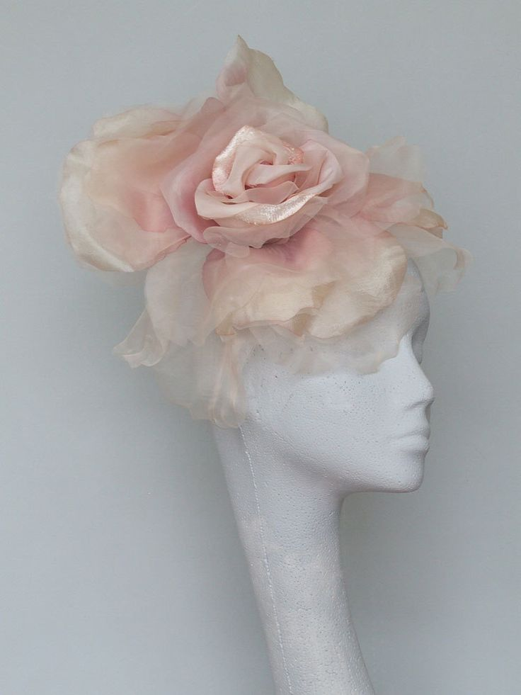 Pale Pink Fascinator Headpiece by CoggMillinery on Etsy https://www.etsy.com/listing/269210016/pale-pink-fascinator-headpiece