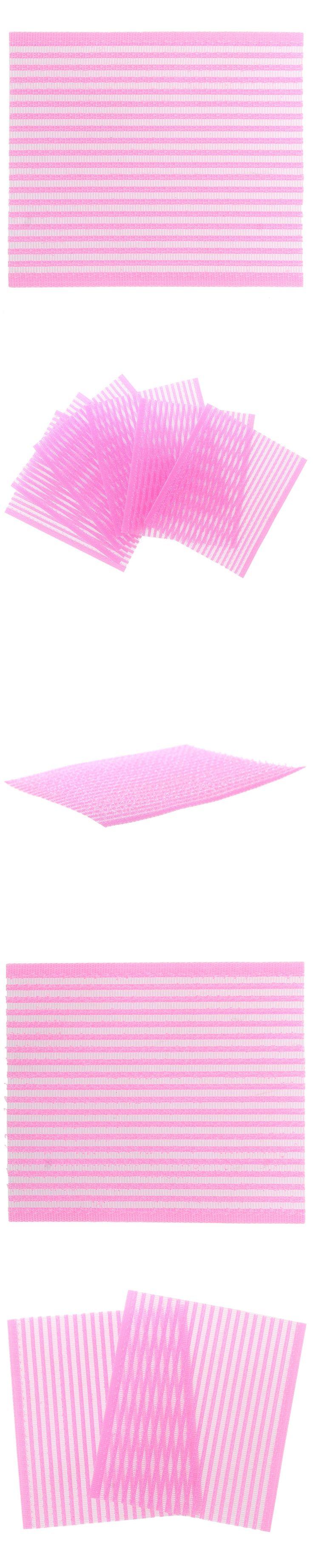 6 Pcs Plastic Magic Paste Posts Fringe Hair Bangs Stickers Pink