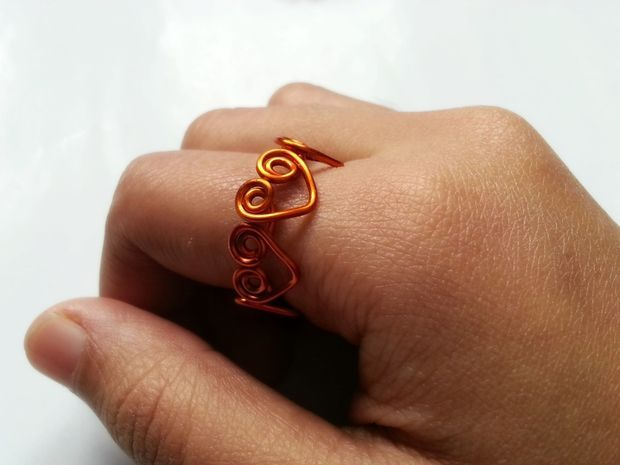 Heart Wrapped Wire Ring