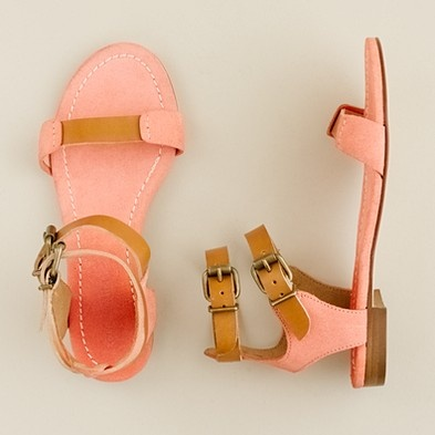 .: Pink Sandals, Salmon Sandals, Summer Sandals, Kids Shoes, Sandals Girls Fashion, Jcrew Kids, Styles, Cute Sandals, Flats Sandals