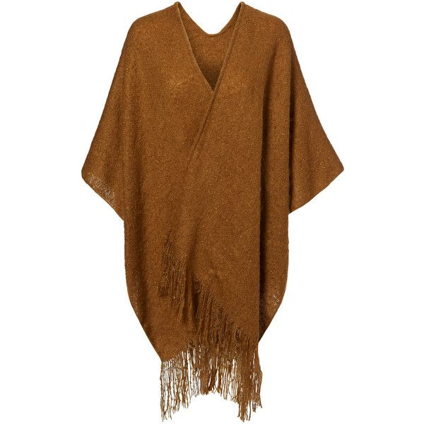 Vero Moda Knitted Poncho (€20) found on Polyvore