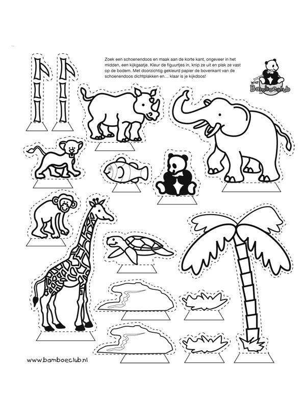 kijkdoos dierentuin creatief creativ pinterest