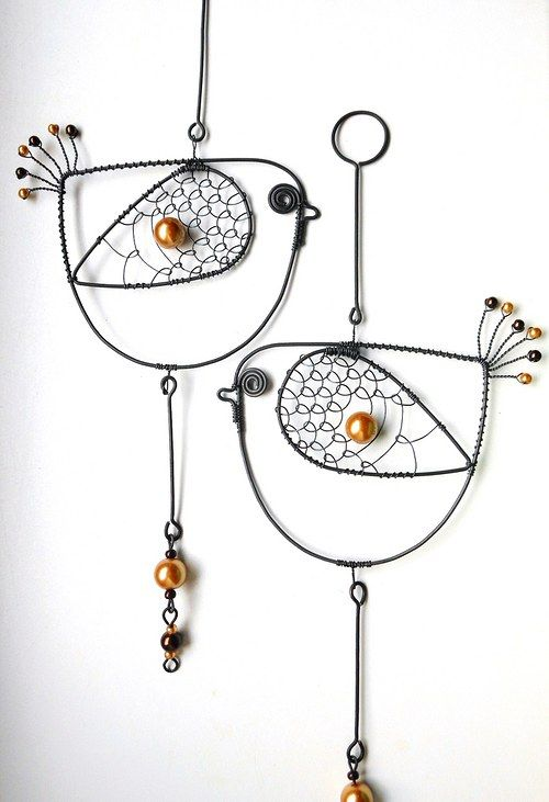Birds - one would be great for a really cute pendant, too!