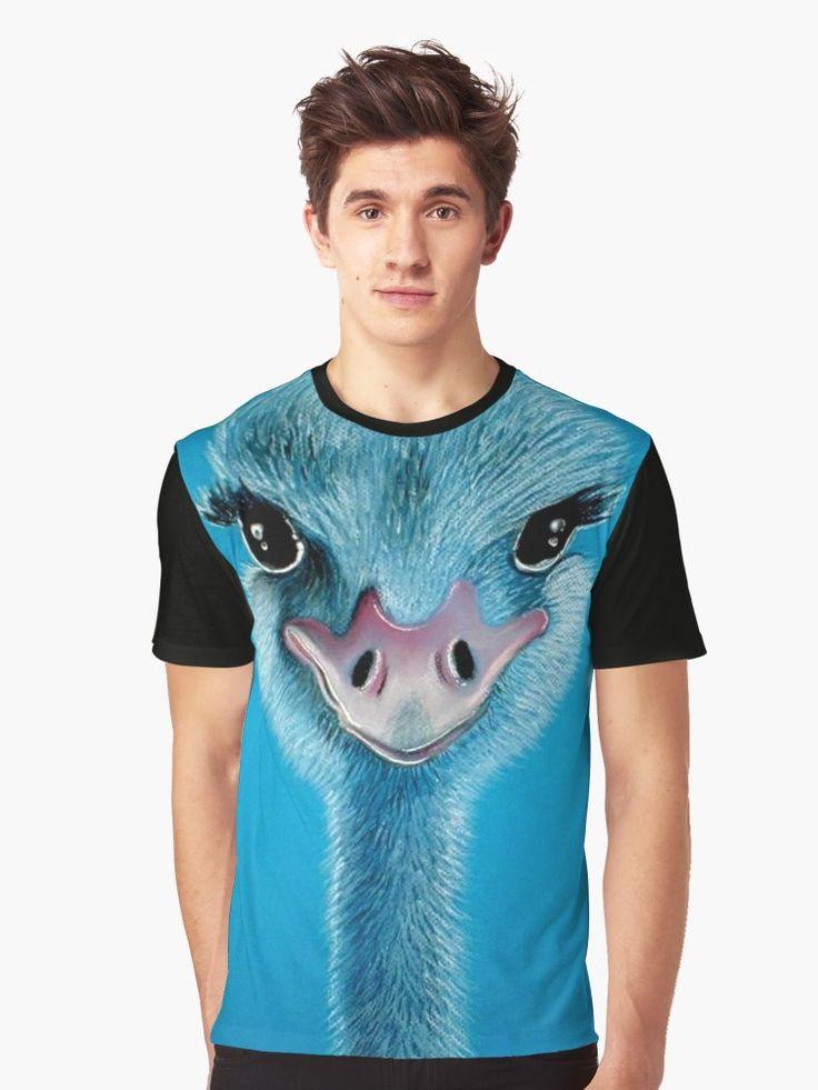 Ostrich Graphic Tee --- $30    #ostrich #tshirt #wildlife