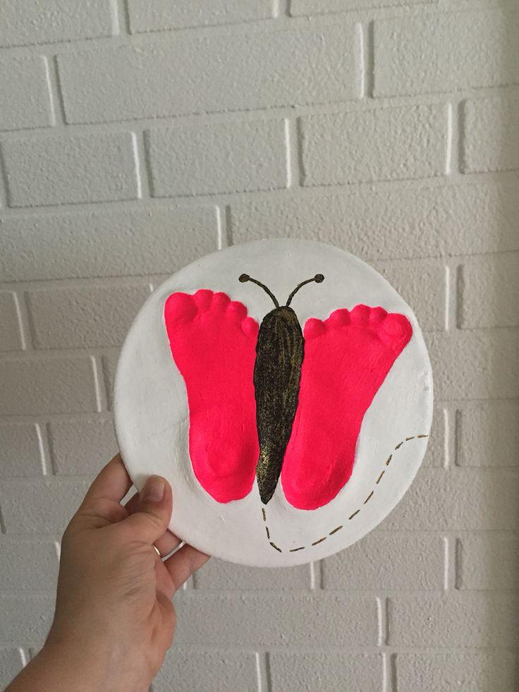 Fin sommerfugle lavet ud af trylledej