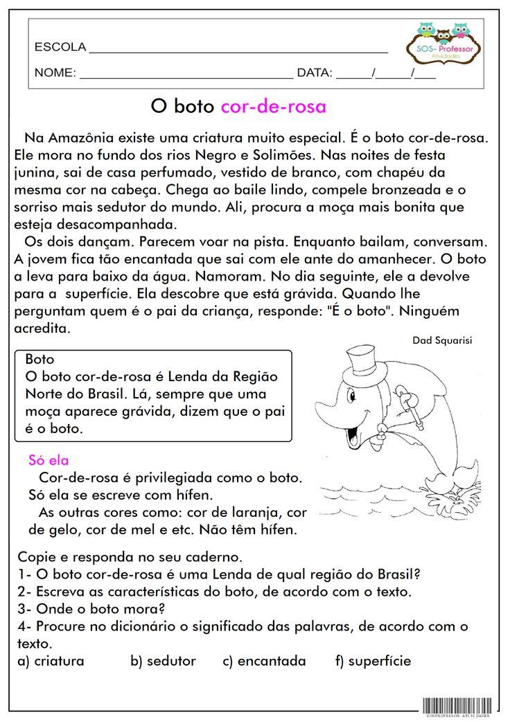 SOS PROFESSOR-ATIVIDADES: O boto cor-de-rosa