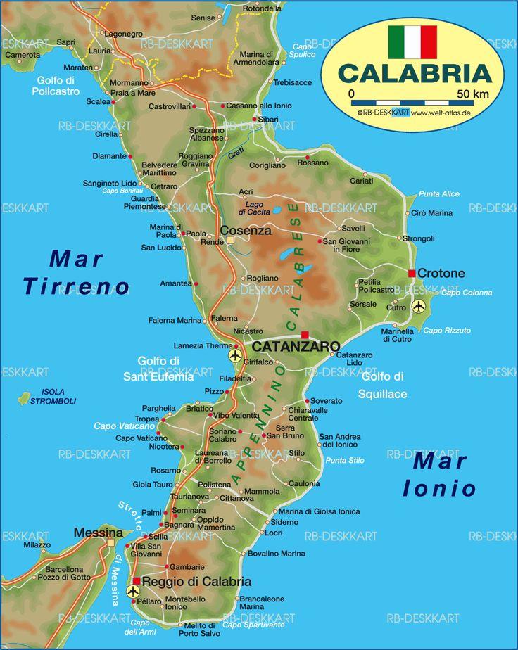 Cosenza Calabria Italy Map
