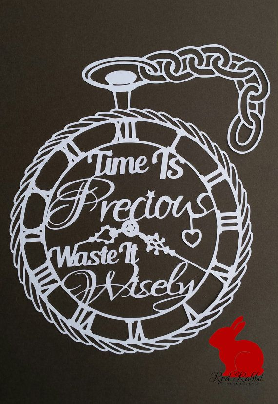 Time is preciouswaste it wisely. Pocket watch by RedRabbitBoutique                                                                                                                                                                                 More