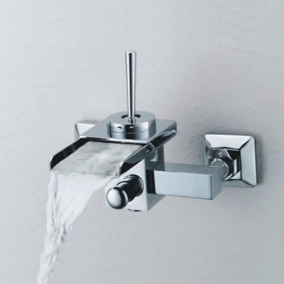 Single Handle Wall-Mount Waterfall Bathroom Sink Tap or Bathtub Tap (T0510_1W)  http://www.uktaps.co.uk/bathtub-taps-c-21.html
