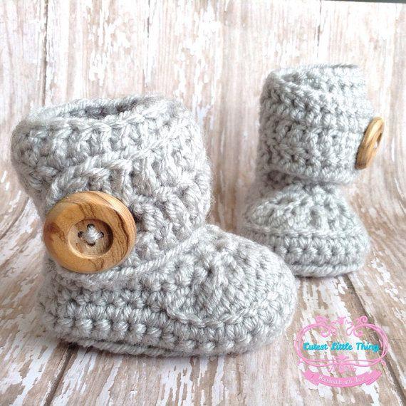 Chaussons bébé chaussons de bébé au Crochet par CutestlittleThing