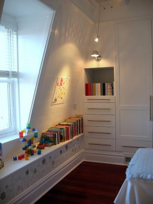 This little girl's room is the most creative use of space and storage I have ever seen! Follow the blog for more pictures