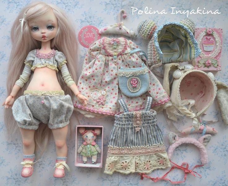 Девочка со всеми нарядами #polinainyakina#гардеробдлякуклы#