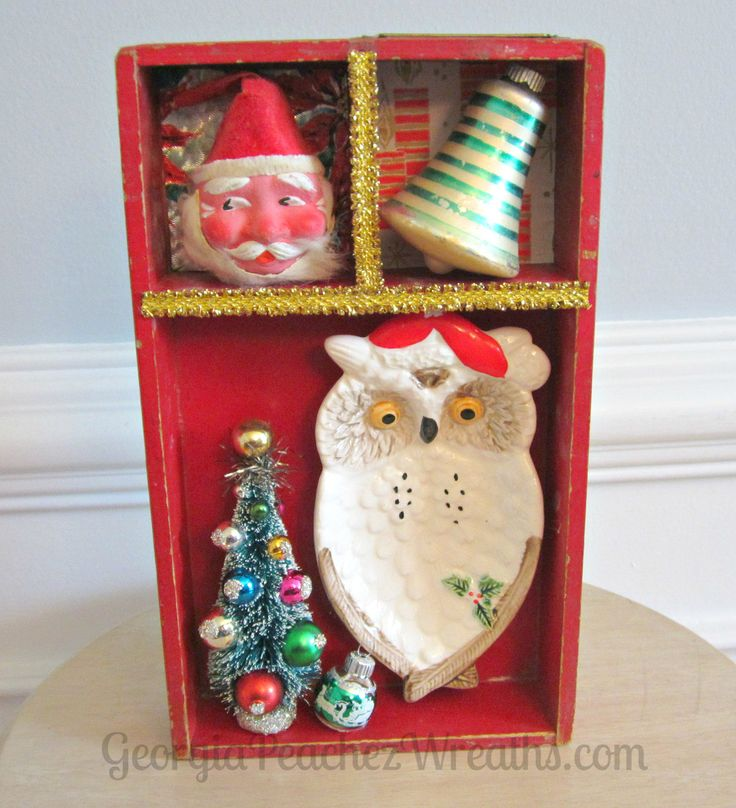 I found a cache of old printer type drawers last week and the minute I saw them I was inspired to make them into something fun for the holidays. Shadowboxes seemed the obvious choice and this was a…
